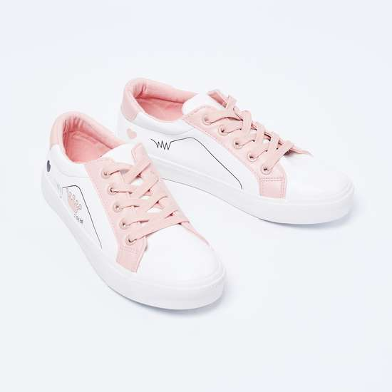 FAME FOREVER Printed Colourblock Casual Shoes