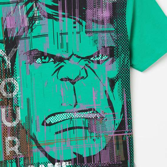 FAME FOREVER YOUNG Hulk Print Crew Neck T-shirt