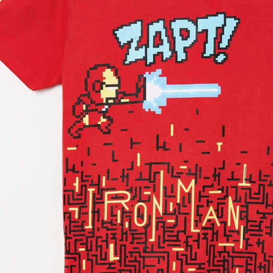 FAME FOREVER KIDS Ironman Print Crew-Neck T-shirt