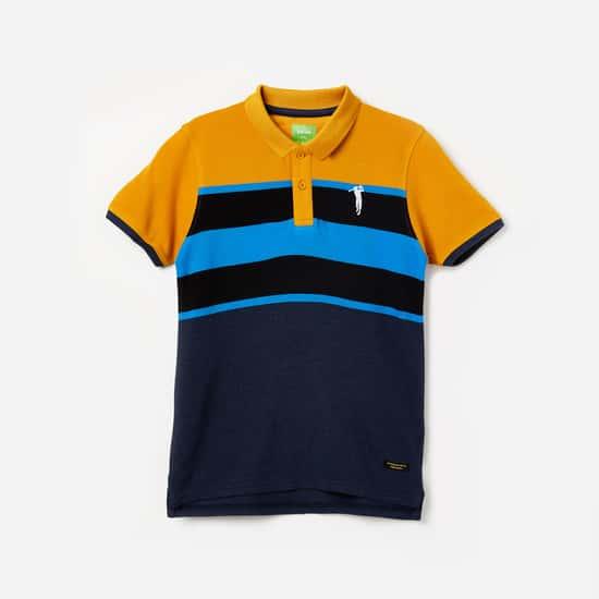 BOSSINI Colourblock Short Sleeves Polo T-shirt
