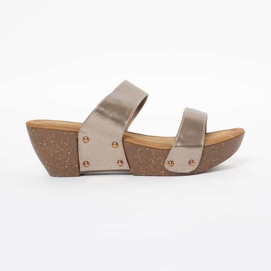 INC.5 Solid Platform Heel Sliders