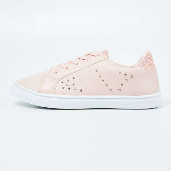 FAME FOREVER Studded Low-Top Casual Shoes