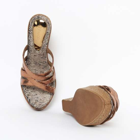 CATWALK Textured Platforms with Wedge Heels