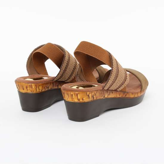 CATWALK Textured Platforms with Wedged Heels