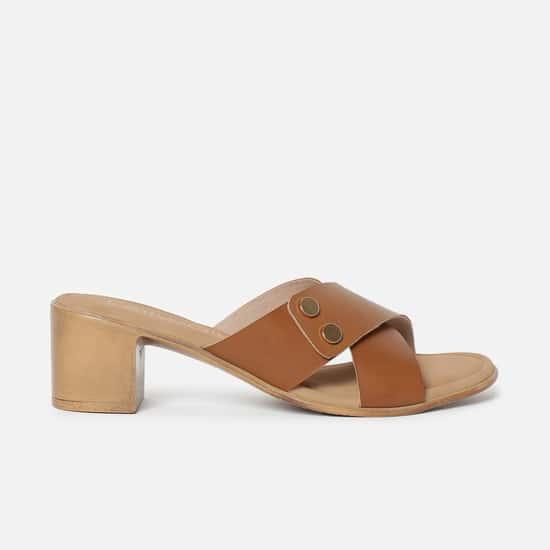 CATWALK Criss-Cross Sandals with Block Heels