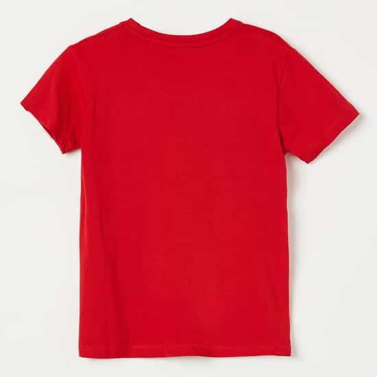 KIDSVILLE Spider Print Crew Neck T-shirt