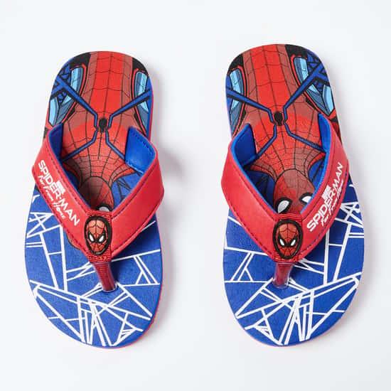 BIOWORLD Spiderman Print V-Strap Flip-Flops