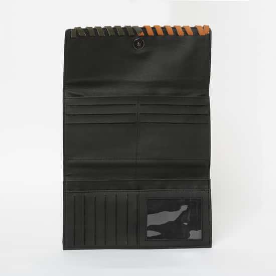 BAGGIT Weave Accent Tri-Fold Wallet