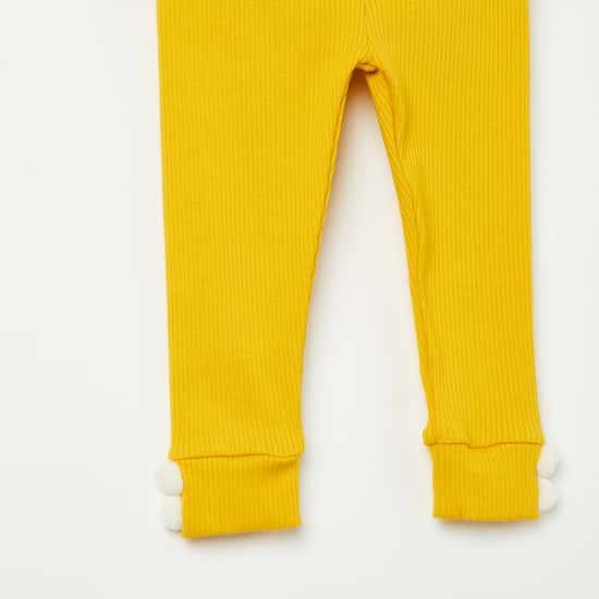 FS MINI KLUB Printed Top with Ribbed Leggings