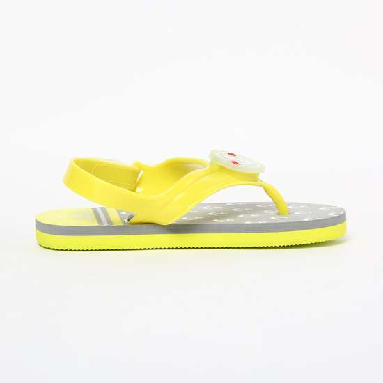 FAME FOREVER Printed Slippers with Sling Back
