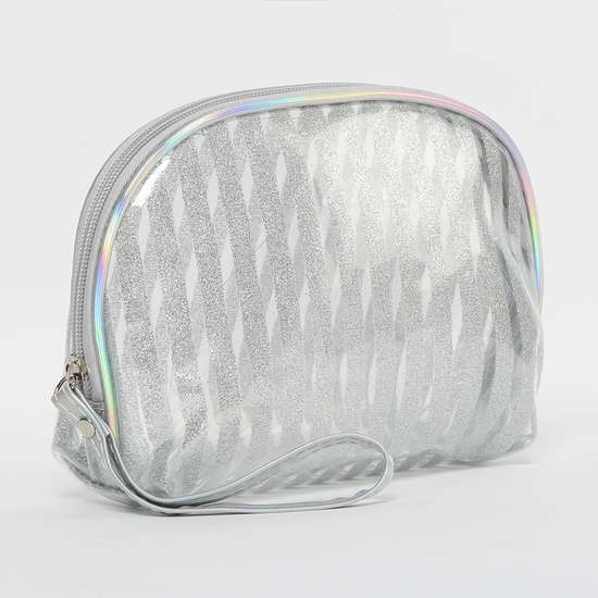 GINGER Shimmery Transparent Pouch