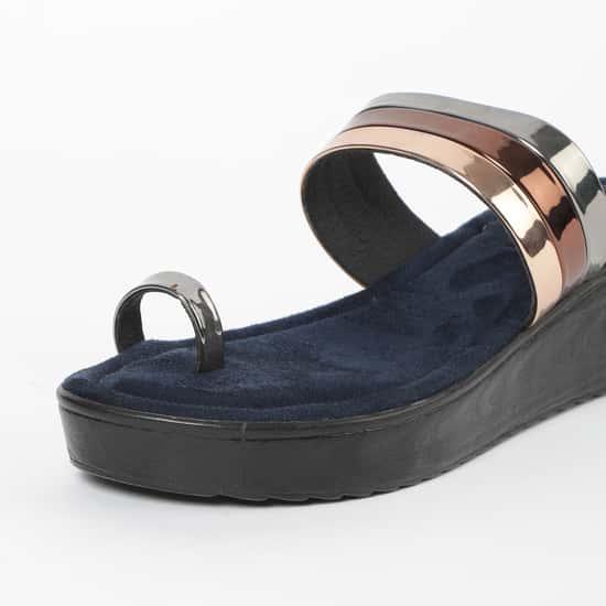 RAW HIDE Toe-Ring Platforms with Wedge Heels