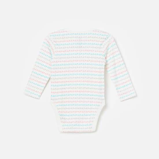 FS MINI KLUB Printed Knitted Rompers - Set of 2