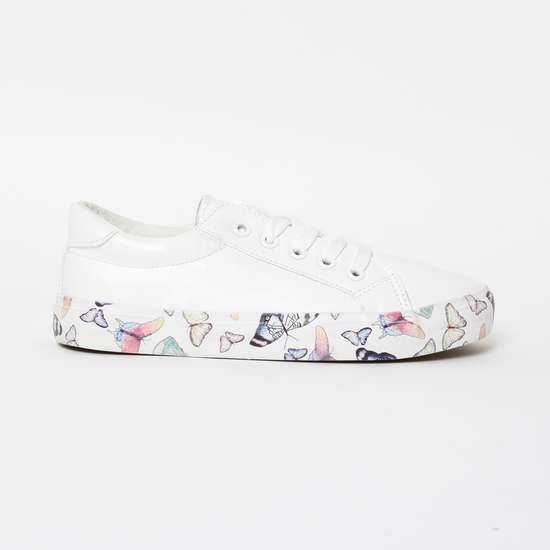 FAME FOREVER Low-Top Casual Shoes with Printed Sole