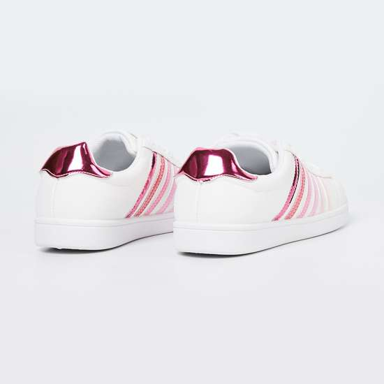 FAME FOREVER Panelled Lace-Up Shoes