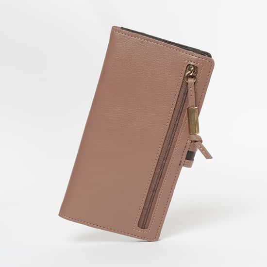 BAGGIT Textured Bi-Fold Wallet