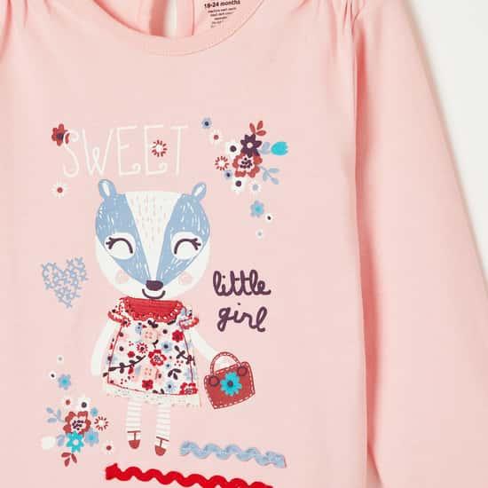 FS MINI KLUB Printed Full Sleeves Top with Pyjamas