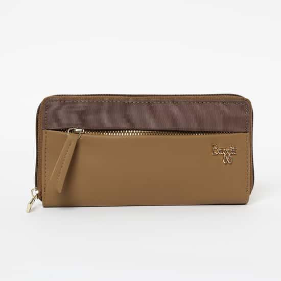 BAGGIT Colourblocked Zip-Closure Wallet
