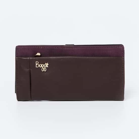 BAGGIT Textured Single-Fold Wallet