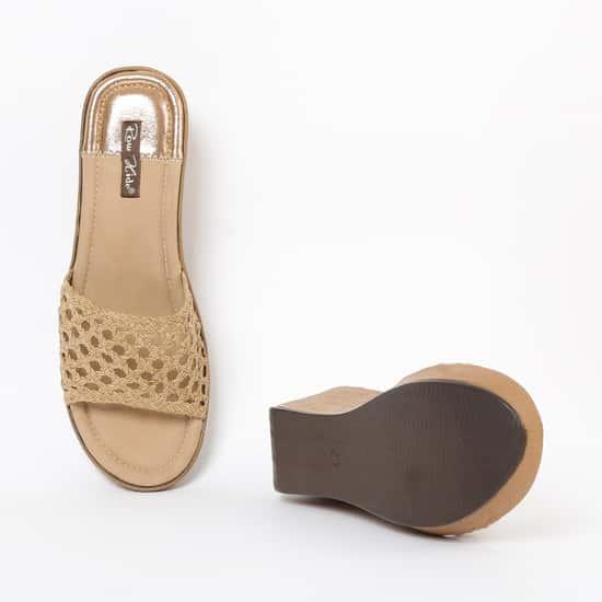 RAW HIDE Platforms with Wedge Heels