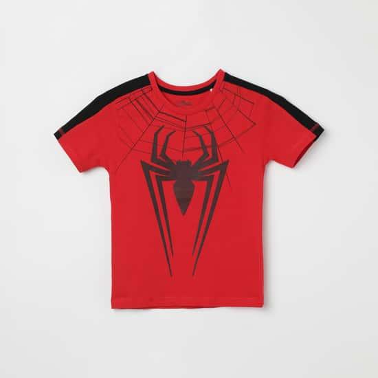 KIDSVILLE Spiderman Print Crew Neck T-shirt