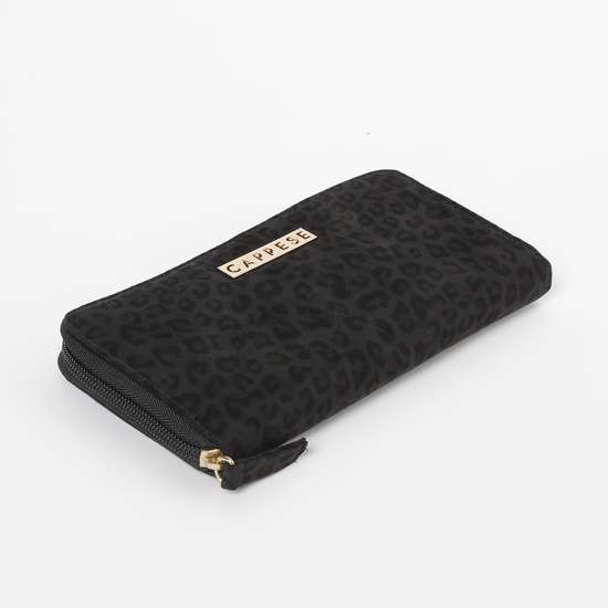 CAPRESE Animal Print Zip-Around Wallet