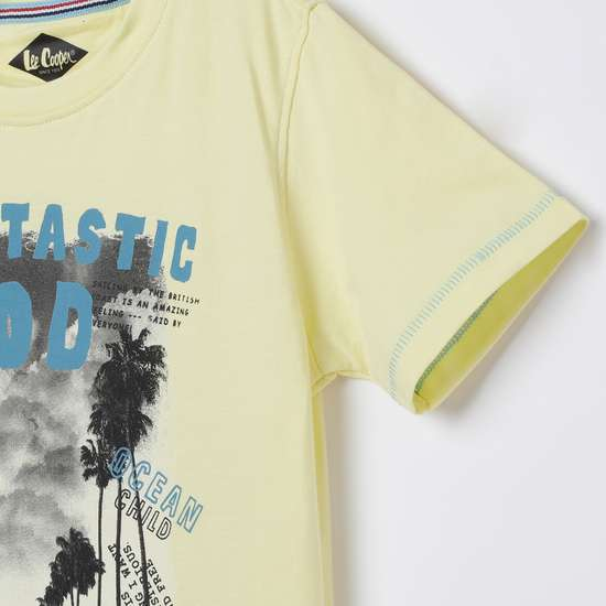 LEE COOPER JUNIORS Printed Crew Neck T-shirt