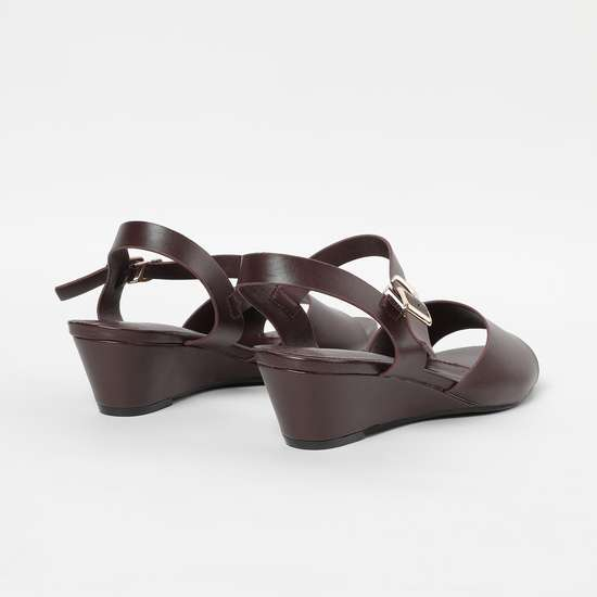 ALLEN SOLLY Solid Wedges with Ankle Straps