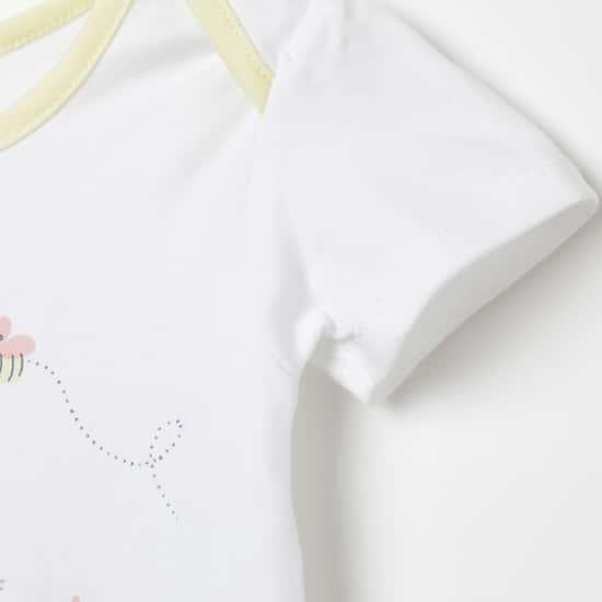 FS MINI KLUB Printed Knitted Rompers
