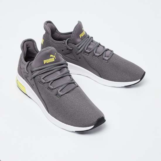 PUMA Textured Lace-Up Sports Shoes