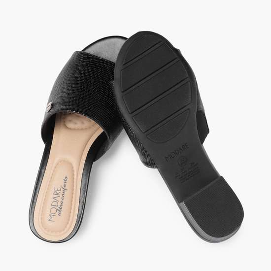 MODARE Women Solid Block Mules