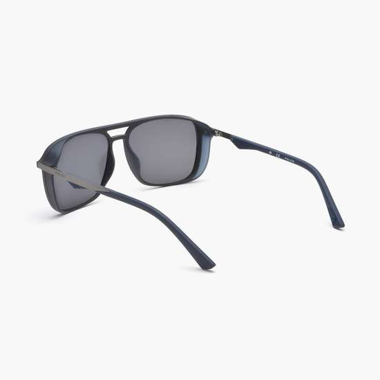 POLICE Men UV-Protected Square Sunglasses- SPL720A577M3B