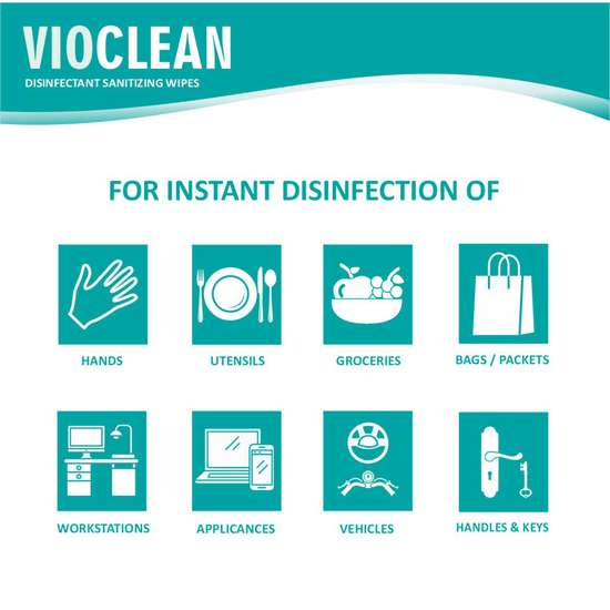 VIOCLEAN Disinfectant Sanitizing Wipes