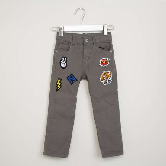 MAX Appliqued Low Rise Trousers