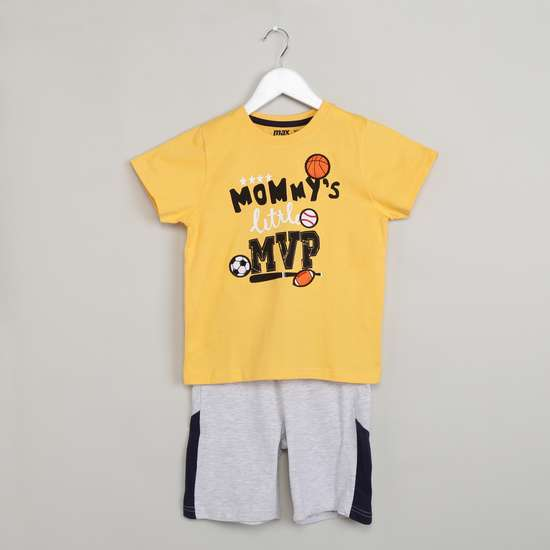 MAX Graphic Print T-shirt & Shorts Sleepwear Set