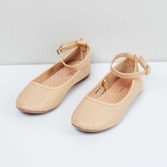 MAX Shimmery Textured Mary Janes