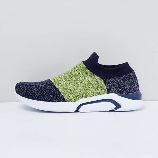 MAX Colourblocked Sock-Knit Slip-On Shoes