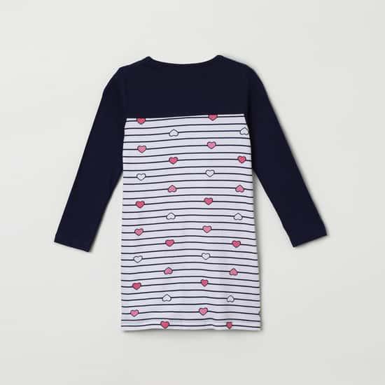 MAX Printed Colourblock Night Dress