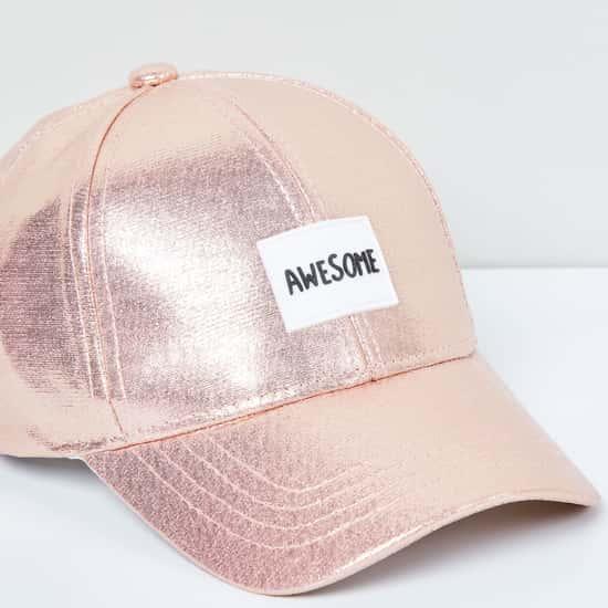 MAX Appliqued Cap with Adjustable Strap