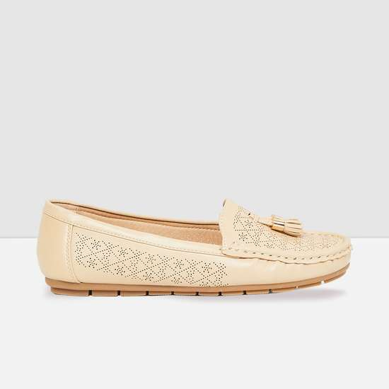 MAX Perforated Tassel Loafers