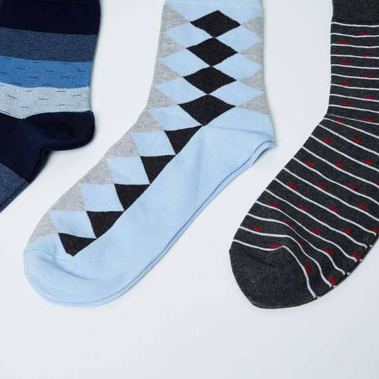 MAX Jacquard Elasticated Socks - Pack of 3
