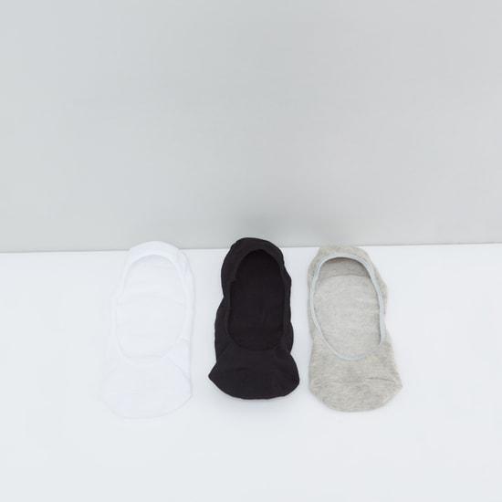 جوارب غير مرئية بحافة مطاطية - طقم 3 أزواج