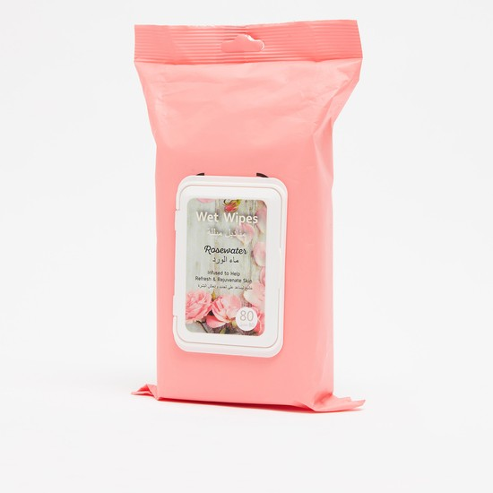 Wet Wipes Rosewater - 80 Pieces