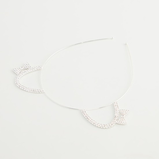 Embellished Cat Ear Detail Headband