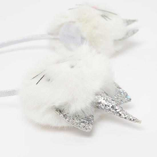 Plush Embellished Hairband