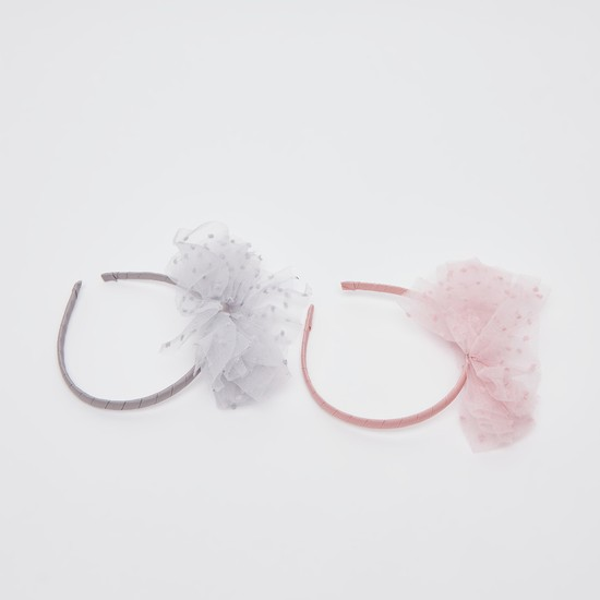 Set of 2 - Applique Detail Hairband
