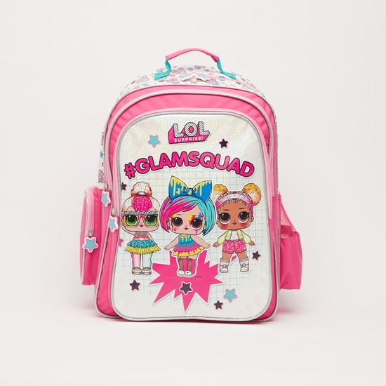 L.O.L. Surpise! Print Backpack with Adjustable Straps - 18 Inches