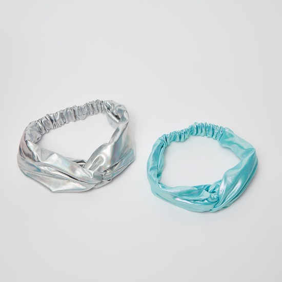 Set of 2 - Solid Hairband with Knot Detail