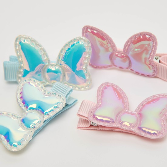 Set of 2 - Bow Shaped Hair Clips