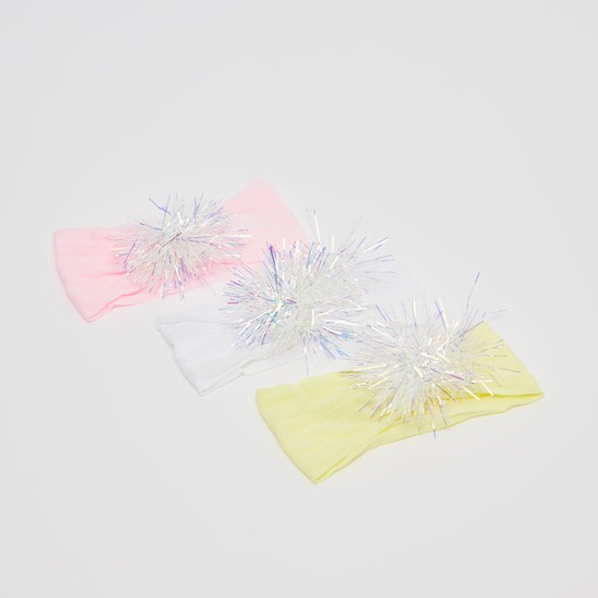 Set of 3 - Hair Bands with Pom Pom
